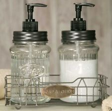 Classic Bath Set Hoosier Soap and Lotion Dispensers Glass Dispensers and Pumps