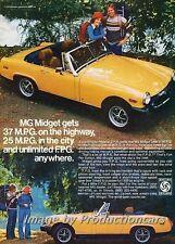 1976 MG Midget Original Advertisement Print Art Car Ad J690