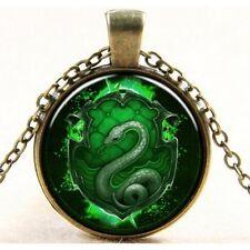 Pendentif Collier Harry Potter Serpentard Voldemort Logo Quidditch Slytherin