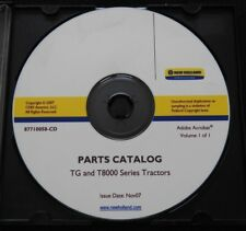 New Holland T8010 T8020 T8030 T8040 T8050 Tractor Parts Catalog Manual Tg Series