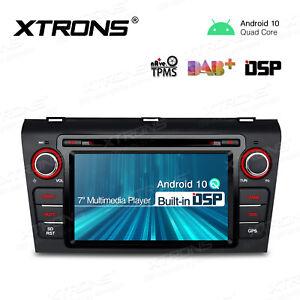"7"" Android 10.0 Car DAB Radio DVD GPS Sat Nav Stereo DSP for Mazda 3 2004-2009"