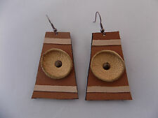 Genuine Leather Handcrafted Jewelry Hook Earring. # 04