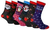 1 Pair Ladies Christmas Socks, Fun Novelty Xmas Gift, Great Stocking Filler, 4-7