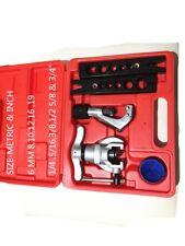 Copper Tube Flaring Cutting Tool Kit,pipe Flaring Tool Set(METRIC & IN)