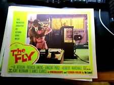 THE FLY,,  ORIGINAL LOBBY CARD, 1958, VINCENT PRICE, #2
