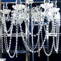 Crystal Acrylic Clear Bead Chandelier Garland Hanging Wedding Decor 3.3 FT