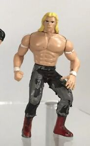 "Vintage Steel Slammer WCW nWo Lex Luger Total Package 3"" Diecast Mini Figure WWF"