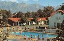 Salt Lake City Utah swimming pool scene Utah Motor Park vintage pc Z25973