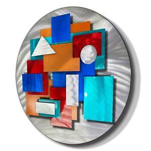 MODERN METAL WALL SCULPTURE 3D Wall Sculpture HAND SIGNED ORIGINAL Jon Allen