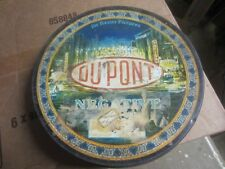 VINTAGE 1920S DUPONT NEGATIVE TIN CAN CONTAINER PHOTOGRAPHY FILM DARKROOM C45