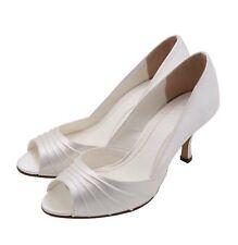 Else By Rainbow Club 'Shiraz' Ivory Dyeable Wedding Bridal Party Shoes Size 3