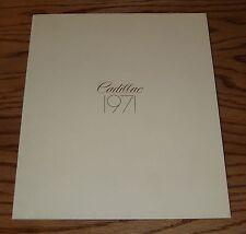 Original 1971 Cadillac Full Line Sales Brochure 71 Eldorado Fleetwood