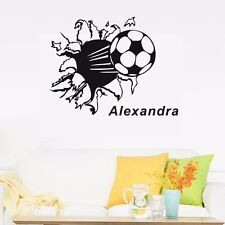 Custom Personalised Name Breakthrough Soccer Wall Stickers Kids Vinyl Art Decals