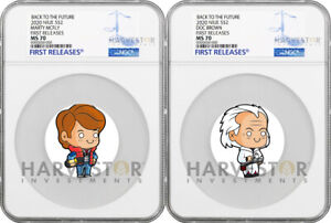 2020 BACK TO THE FUTURE MARTY MCFLY & DOC BROWN - NGC MS70 FIRST RELEASE