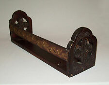 Scarce old antique vtg ca 1880s Folk Art Chip Carved Wooden Shelf nice condition