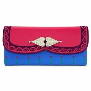 Loungefly Disney Frozen Princess Anna Trifold Wallet Faux Leather Clutch Purse
