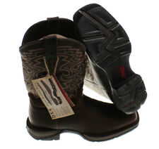 NEW - REBEL BY DURANGO Men's DB5434 Brown PULL-ON WESTERN WORK BOOT  - US 9.5 D