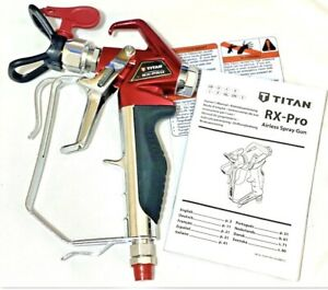 TITAN USA Made NEW RX-Pro Red Series Airless Spray Gun w/ 517 Titan Tip & Guard
