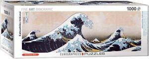 Great Wave of Kanagawa - Hokusai- 1000 piece jigsaw puzzle 960mm x 320mm (pz)