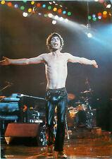 RARE ROLLING STONES MICK JAGGER 1981 VINTAGE ORIGINAL MUSIC POSTER