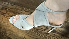 NEW Women's $128 Banana Republic Beige Suede Hi Heels Summer Shoes Size 9.5