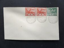 Jersey 1943 Blampied 1/2d + 2 x 1d Views FDC cancelled St Johns Church sub p.o.