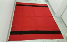 Vtg HUDSON BAY Large Quality 3.5 Point Blanket Wool Throw 81 X 64 Made ENGLAND