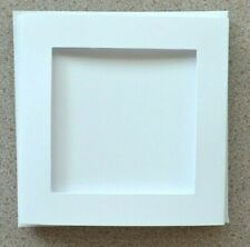 5 Double/Fold White Card Blanks with 96mm Apertures & white Envs 140mm Sq