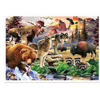 5D Full Drill Diamond Painting Cross Stitch Kits Embroidery Animals Wall Decors
