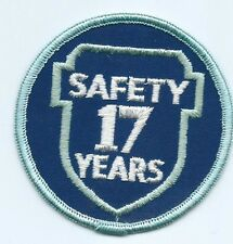 Greyhound Bus, driver patch, 17 Safety Years. 3 inch diameter #1927