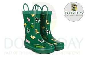 Tractor Ted Children's Wellies Green - Available in size 5, 6, 7, 8, 9, 10