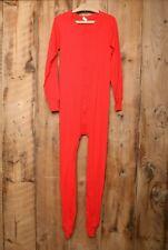 Vintage Springfoot Red One Piece Union Suit Long Johns Underwear Pajamas Sz. M