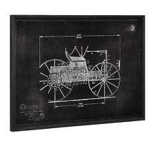 [art.work] Wandbild 60x80cm Altes Auto Skizze Technische Zeichnung Design Deko