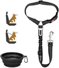 Dog Seat Belt for Car 2 IN 1 Adjustable Headrest Puppy Seatbelt Pet Safety