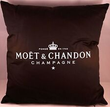 MOET CHANDON CHAMPAGNE GENUINE BLACK LOUNGE INDOOR CUSHION 38CMS SQ NEW X 1