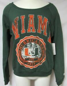 Starter Miami Hurricanes Women's Size Medium Pullover Sweatshirt A1 3345