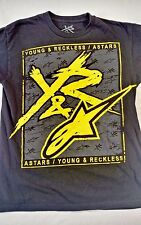 YOUNG AND RECKLESS Y&R Men's Graphic Tee T-Shirt Size M 100% Cotton Black