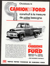 1954 FORD F-350 Express 9-feet Truck Vintage Original Print AD Pickup art french