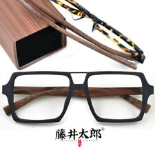 Hand Made Wood Acetate Square Eyeglass frames Double beam Spectacles Eyewear