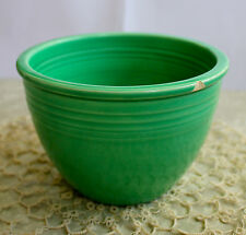 Vintage Fiestaware HLC Original Green #2 Mixing Bowl Inner Circles Chip