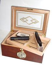 Zigarren Humidor-Set Angelo Glastop abschließbar mit Cutter & Zigarrentube NEU!