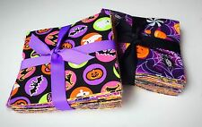 "Halloween Fabric Charm Pack Lot - 100% Cotton Quilt Fabric Pre Cut 5"" Squares"