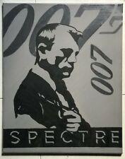 James Bond 007 SpectreMinimalistic Handmade Acrylic Painting on Canvas Original