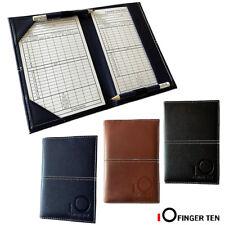 Golf Scorecard Holder Leather Yardage Book Cover Sunfish With 2 Pcs Score Sheets