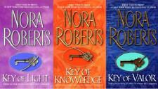 Nora Roberts KEY TRILOGY in MASS MARKET PAPERBACK Editions Set of Books 1-3