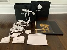 CHANEL Paper Shopping Bags Camellia Flowers Ribbon Book Catalog New Authentic