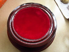 1.45lb   PRETTY RED WOOD TOWER STAND PEDESTAL HOLDING SPHERE 659g