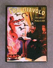 FRA DIAVOLO THE GREAT MAGICIAN Magnet, Art from 1910s Poster, Devil, Demon, Bats