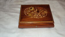 Sorrento Italy Inlaid Wood Jewelry Box ( Music Movement  Working )