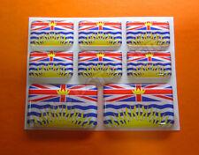8 x Pegatinas 3D Relieve Bandera British Columbia - Todas las Banderas del MUNDO
